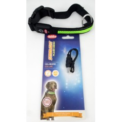 Starlight Flash Mesh Halsband grün mit LED Nobby