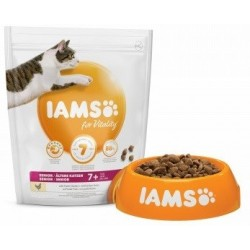 Iams for Vitality Senior Cat Chicken Trockenfutter mit frischem Huhn
