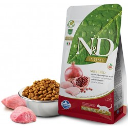 N&D Adult Cat Neutered Hühnerfleisch und Granatapfel Natural & Delicious Cat Farmina Trockenfutter
