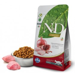 N&D Adult Cat Hühnerfleisch und Granatapfel Natural & Delicious Cat Farmina Trockenfutter