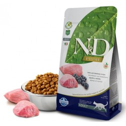 N&D Adult Cat Lammfleisch und Heidelbeere Natural & Delicious Cat Farmina Trockenfutter