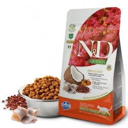 N&D Adult Cat Skin & Coat Quinoa Hering Natural & Delicious Cat Farmina Trockenfutter