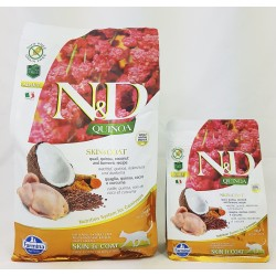 N&D Adult Cat Skin & Coat Quinoa Wachtel Natural & Delicious Cat Farmina Trockenfutter