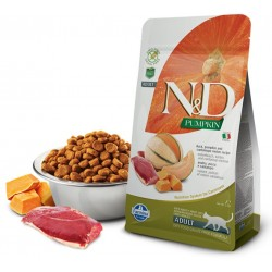 N&D Adult Cat Pumpkin Entenfleisch, Kürbis + Cantaloup-Melone Natural & Delicious Cat Farmina