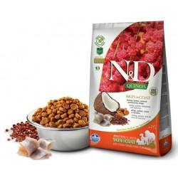 N&D Adult Dog Quinoa Skin & Coat Hering, Quinoa, Kokosnuß + Kurkuma Natural & Delicious Farmina