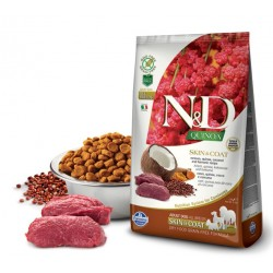 N&D Adult Dog Quinoa Skin & Coat Hirsch, Quinoa, Kokosnuß + Kurkuma Natural & Delicious Farmina