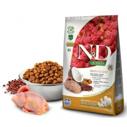 N&D Adult Dog Quinoa Skin & Coat Wachtel, Quinoa, Kokosnuß + Kurkuma Natural & Delicious Farmina
