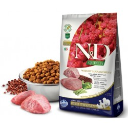 N&D Adult Dog Quinoa Weight Management Lamm, Quinoa, Brokkoli + Spargel Natural & Delicious Farmina