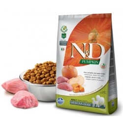 N&D Adult Dog Pumpkin Medium Maxi Wildschwein, Kürbis + Apfel Natural & Delicious Farmina