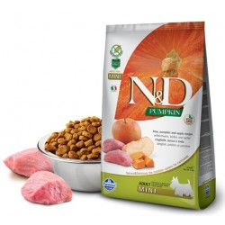 N&D Adult Dog Pumpkin Mini Wildschwein, Kürbis + Apfel Natural & Delicious Farmina