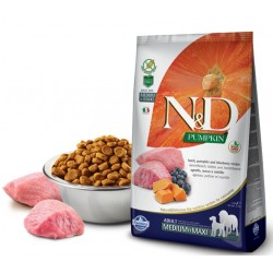 N&D Adult Dog Pumpkin Medium Maxi Lammfleisch, Kürbis + Heidelbeere Natural&Delicious Farmina 12 kg