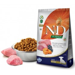 N&D Dog Pumpkin Puppy Mini Lamm, Kürbis + Heidelbeere Natural & Delicious Farmina 800 g