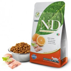 N&D Adult Cat Fisch und Orange Natural & Delicious Cat Farmina Trockenfutter